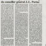 Communiqué de Jean-Louis Portaz, élu du Parti de Gauche Savoie