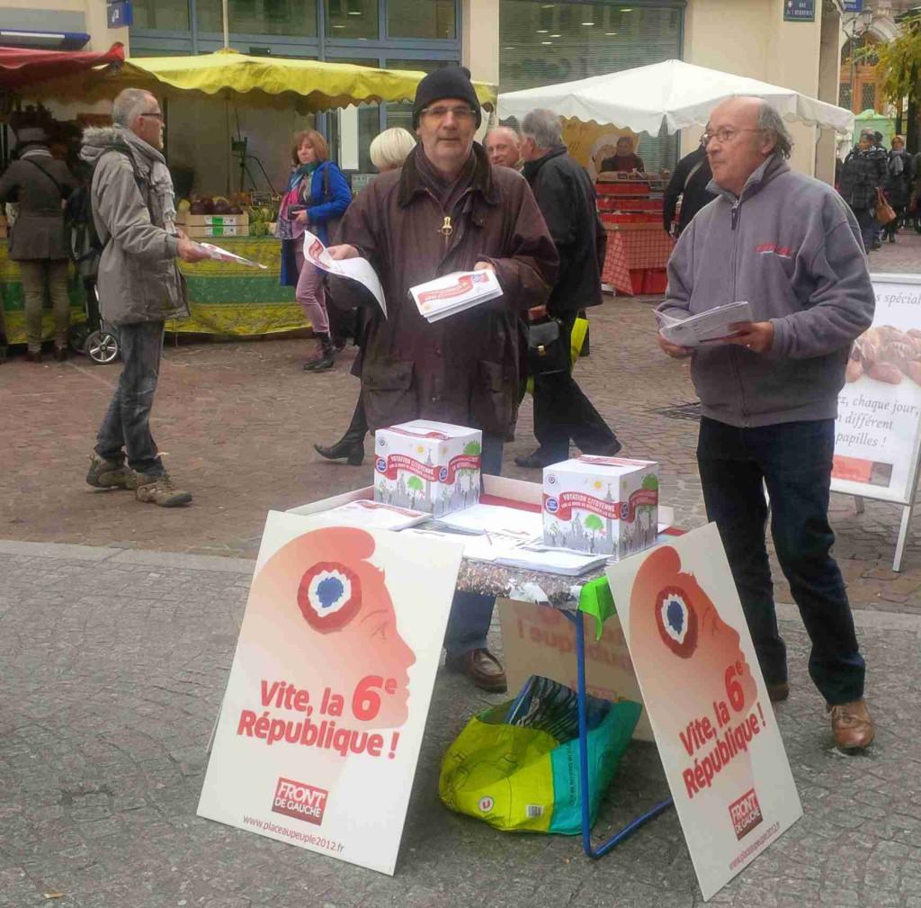 Votation sur le droit de révoquer les élus é partir de la mi mandat. 8 novembre 2014 à Chambéry