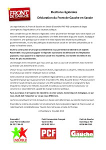 Déclaration FdG 73